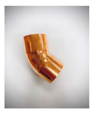 """Picture of 1 1/8"""" COPPER ELBOW 45°"""