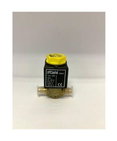 """Picture of 1/4"""" CASTEL SOLENOID VALVE C/W COIL 1020/2A7 (FLARE)"""