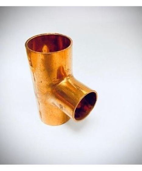 "Picture of COPPER REDUCER TEE 1 5/8"" X 1 1/8"""