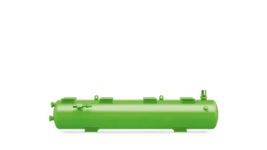 Picture of F 1202N BITZER HORIZONTAL LIQUID RECEIVERS C/W ARV